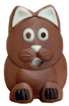 Belgian Milk Chocolate Cat